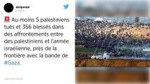 Gaza. Violents affrontements près de la frontière, six Palestiniens tués.