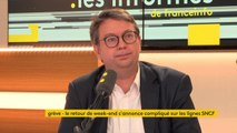 """SNCF: """"On n'a jamais prononcé le mot de 'privilégié', mais le statut des cheminots bloque un certain nombre d'évolutions professionnelles"""", insiste Sylvain Maillard #lesinformés"""