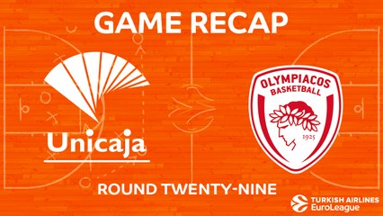 EuroLeague 2017-18 Highlights Regular Season Round 29 video: Unicaja 87-85 Olympiacos