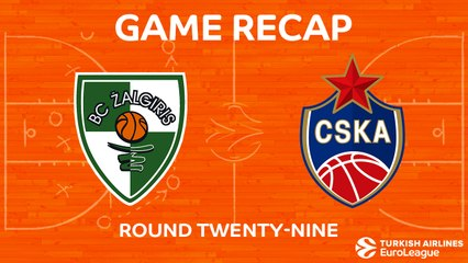 EuroLeague 2017-18 Highlights Regular Season Round 29 video: Zalgiris 85-73 CSKA