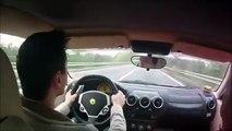 Cet automobiliste va avoir la peur de sa vie au volant de sa Ferrari... Grosse maitrise