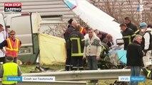 Un crash d'avion sur l'autoroute A47 fait deux morts (vidéo)