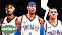 Paul George and Melo Leaving OKC Because Of Russell Westbrook? | Huddle