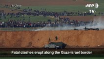 Clashes, 16 dead as thousands of Gazans march near Israel border