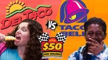 Del Taco VS Taco Bell | $50 Food Challenge!