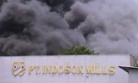 Pabrik Rambut Palsu di KBN Cilincing Terbakar