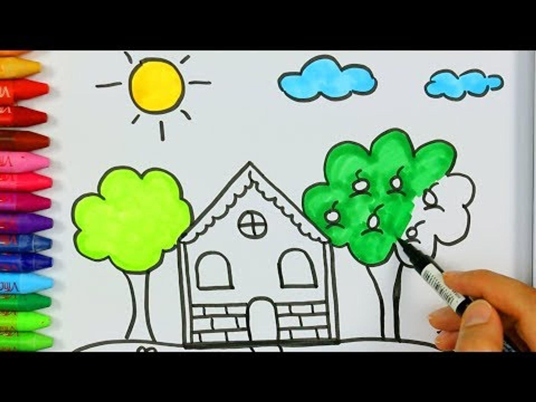 Ev Agac Bulut Gunes Nasil Cizilir Cizelim Boyayalim Video