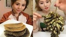 MEOGBANG BJ COMPILATION-CHINESE FOOD-MUKBANG-challenge-Beauty eat strange food-asian food-NO.105