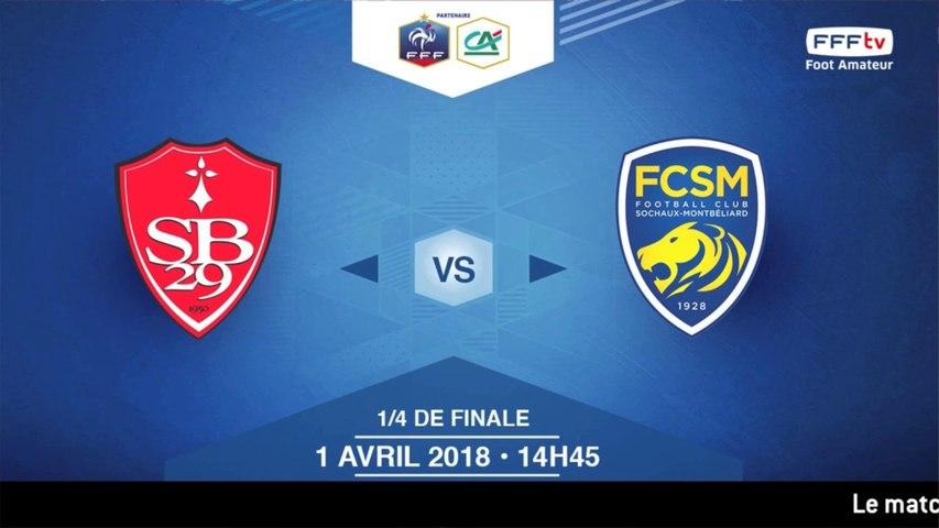 COUPE GAMBARDELLA-CA, 1/4 de Finale - Stade Brestois / FC Sochaux-M. - Dimanche 1 Avril à 14h45 (2)