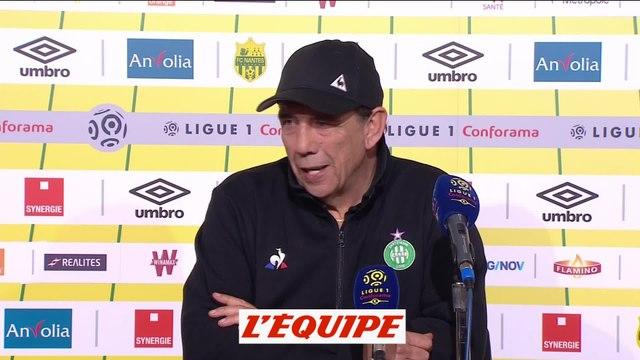 Gasset «Laissez-moi savourer» - Foot - L1 - Saint-Etienne