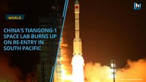 China's space lab Tiangong-1 burns up over South Pacific on Earth return
