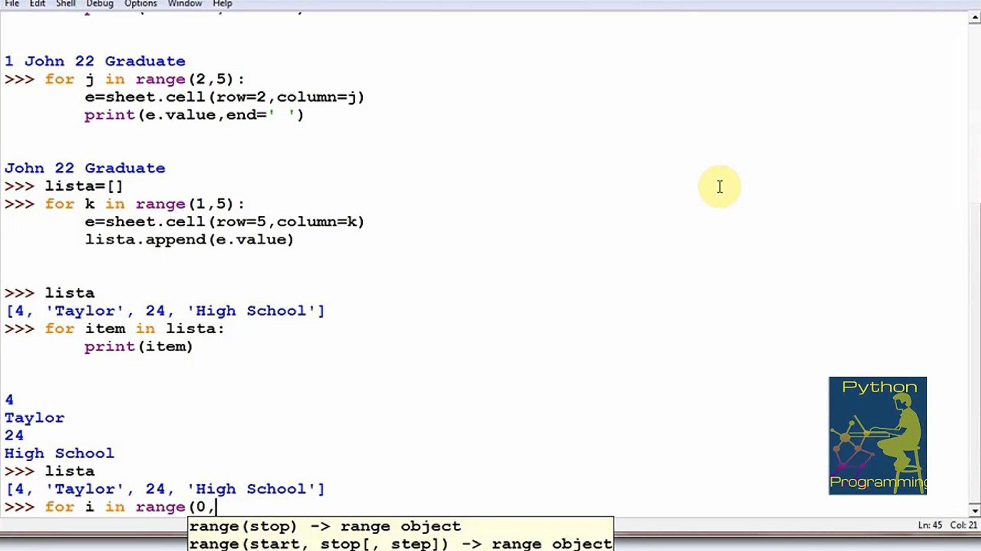 Python 3 Write a row to Excel sheet