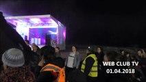 Parade de nuit  Fuegus Tribal (cracheur de feu) Allume le feu  rendent hommage à Johnny Hallyday  au théâtre de verdure à Denain