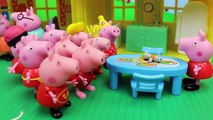 Peppa Pig Multiplicity with Disney Cars Mater Mickey Mouse Daddy Pig in Peppa Pig Playground & House