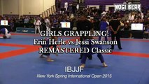 GIRLS GRAPPLING Erin Herle vs Jessi Swanson REMASTERED Classic • IBJJF NY Spring Open 2015 • Womens Purple Belt Grappling