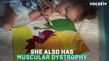 Girl With Muscular Dystrophy Makes Amazing Paintings