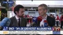 """Grève SNCF:""""Deux personnes ont été blessées, notamment une dame à la Gare de Lyon"""" (dir. Transilien)"""