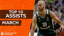 Turkish Airlines EuroLeague, Top 10 Assists, March