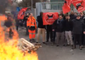 Burning Pallets Block Road as Waste Workers Join French Strike