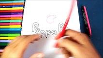 Cómo dibujar el logo de PEPPA (Logotipo de Peppa) | How to draw the Peppa Pig Logo