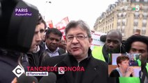 """Grève à la SNCF: Jean-Luc Mélenchon dénonce """"le travail de merde"""" des journalistes, qui """"salissent les grévistes"""""""