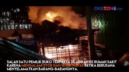 9 Ruko di Singkawang Hangus, Satu Korban Dilarikan ke RS