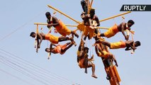 شاهد: طقوس دينية مثيرة  للخوف في الهند