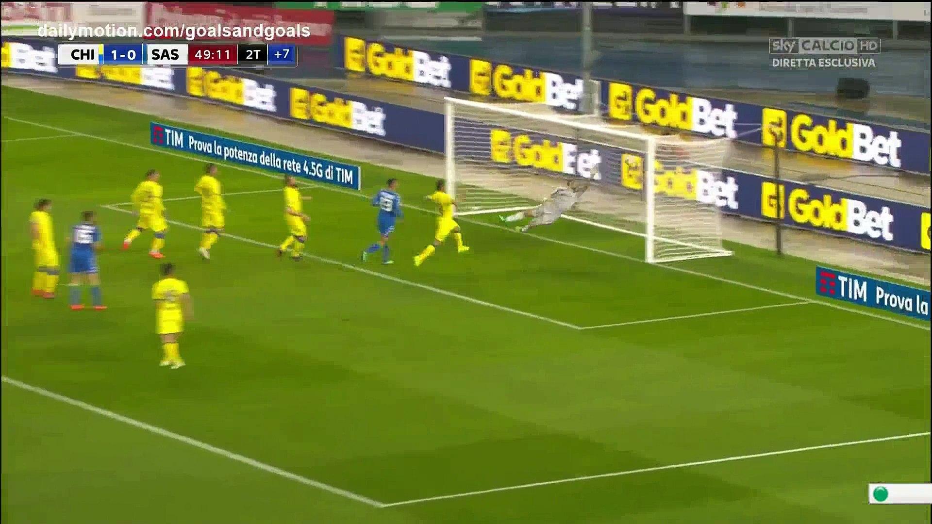 Francesco Cassata Goal Hd Chievo 1 1 Sassuolo 04 04 2018 Full Replay Video Dailymotion