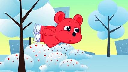 GUMMY BEAR HUGE SNOT ❤️ gummybears play with ice _ Gummy Bears Cartoons Clips