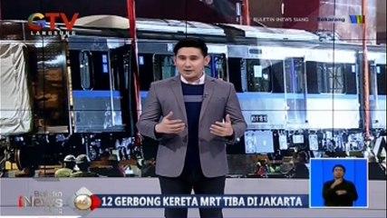12 Gerbong Kereta MRT Tiba di Jakarta