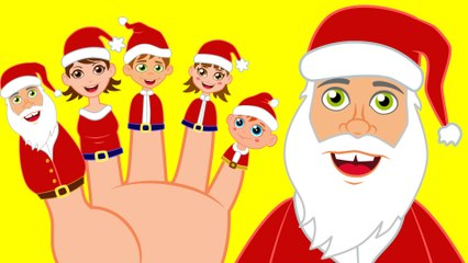 Finger Family with Santa Claus Family