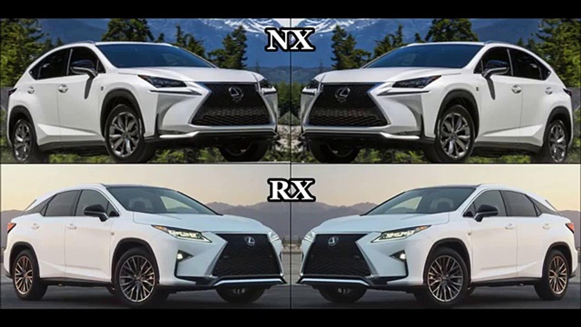 Lexus Nx Vs Rx >> 2016 Lexus Nx 200t F Sport Vs 2016 Lexus Rx 350 F Sport