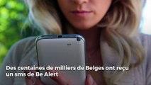 Des centaines de milliers de Belges ont reçu un sms de Be Alert du 1789