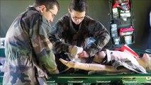 """Exercice """"blessés de guerre"""" à l'Ecole de santé des armées de Bron"""