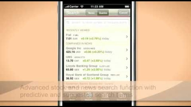 Financial Times iPhone Application