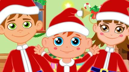 Cabeza Hombros Rodillas Pies con Papá Noel