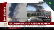 Taksim İlk Yardım hastanesi yanıyor