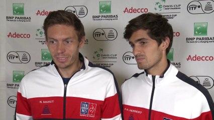 Interview: Nicolas Mahut and Pierre Hugues-Herbert (FRA)