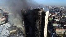 Taksim Eğitim ve Araştırma Hastanesindeki Yangın Havadan Drone ile Görüntülendi
