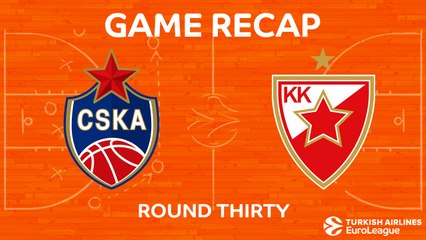 EuroLeague 2017-18 Highlights Regular Season Round 30 video: CSKA 92-81 Zvezda