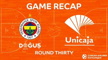 EuroLeague 2017-18 Highlights Regular Season Round 30 video: Fenerbahce 91-99 Unicaja