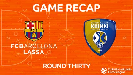 EuroLeague 2017-18 Highlights Regular Season Round 30 video: Barcelona 86-82 Khimki