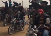 Tear Gas Fired at Demonstration Camp Where Protesters Stockpile Tires