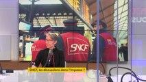 """Grève à la SNCF : les cheminots vont """"garder l'essentiel des garanties du statut"""", assure Elisabeth Borne, qui cite """"la retraite, la garantie de l'emploi, la rémunération, les facilités de circulation. Ça n'est pas rien"""" #8h30politique"""