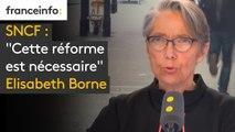 """SNCF : """"Cette réforme est nécessaire. Le gouvernement est déterminé à la mener dans la discussion, dans la négociation"""", assure Elisabeth Borne, ministre des Transports #8h30politique"""
