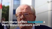 Jean-Marie Le Pen hospitalisé à Paris depuis plusieurs jours