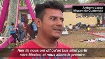 Mexique: la caravane de migrants se disperse avant la frontière