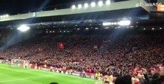 L'ambiance à Anfield lors de Liverpool-City