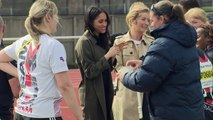 Prince Harry and Meghan Markle attend the UK team trials for the Invictus Games
