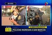 PNP recupera control de Universidad San Marcos y detiene a alumnos preventivamente